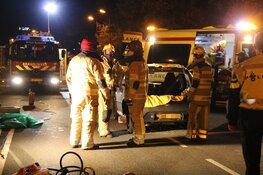 Beknelde automobilist door brandweer bevrijd bij ongeval Bussum