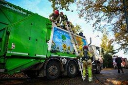 Brand in vuilniswagen in Blaricum