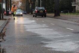 Brandstofspoor op Brinklaan Bussum