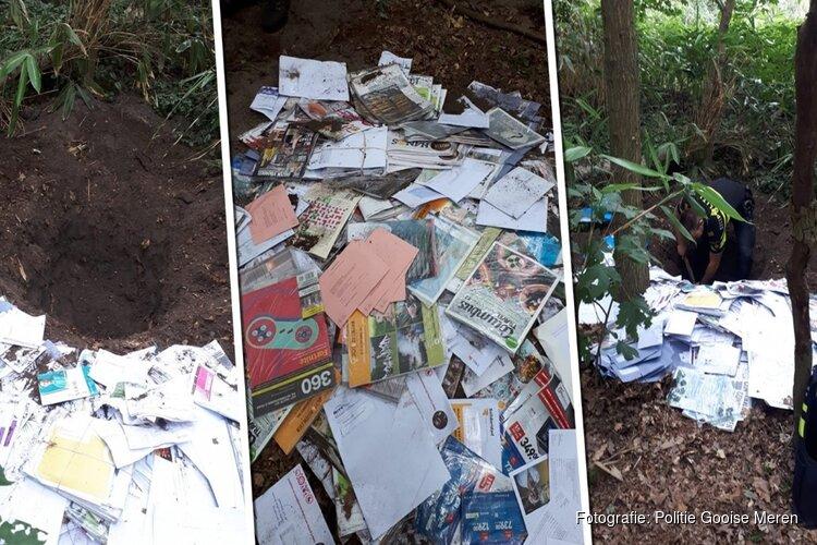 Postbedrijf weet wie maandenlang duizenden brieven dumpte in Larens bos