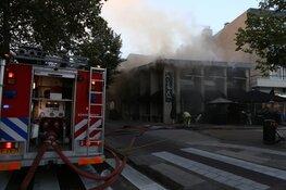 Grote brand in restaurant Bussum