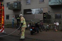 Scooter in brand in Hilversum
