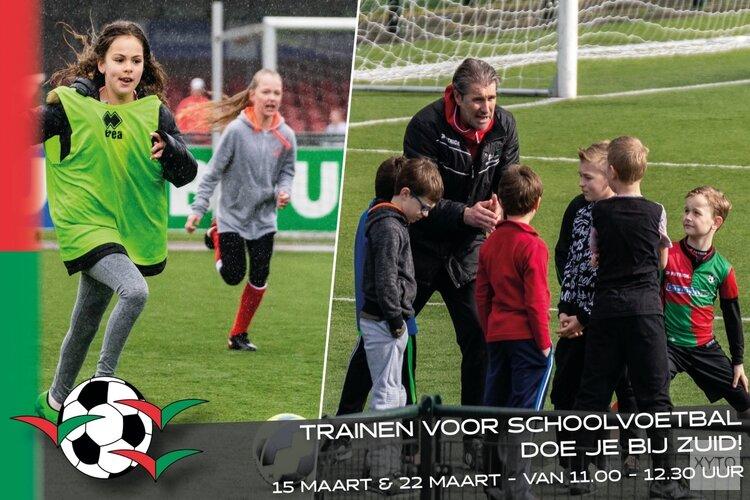 Ook dit jaar trainen voor schoolvoetbal bij de Zuidvogels!