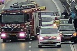 Half uur vertraging richting Amersfoort door ongeluk op A1 bij Naarden