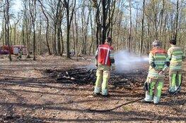 Brandje in bos bij Huizen