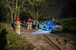 Auto uitgebrand in Muiderberg