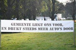 Demonstratie in Hilversum tegen de plannen van de gemeente