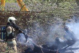 Brand in natuur Eemnes breidde zich snel uit