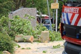 Freesmachine zorgt voor gevaarlijke situatie in Bussum