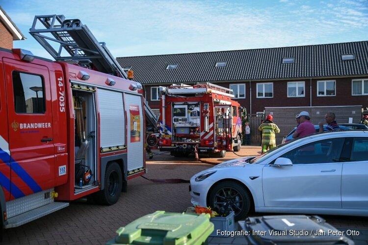 Brand in schuur in Nederhorst den Berg