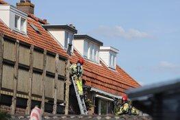 Flinke brand op balkon in Weesp