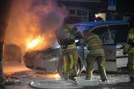 Auto gaat in vlammen op in Hilversum