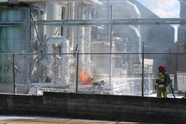Brand in fabriek BN International Huizen