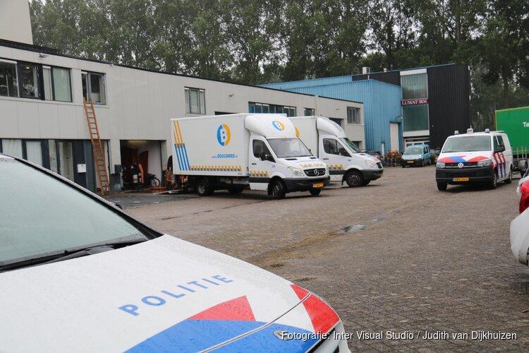 Politie actie op bedrijventerrein in Weesp