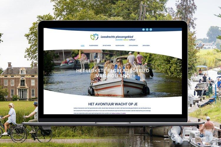 Lokale ondernemers vieren de lancering van een online platform ter promotie van het Loosdrechts plassengebied