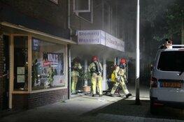 Flinke brand bij stomerij in Bussum