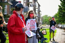 Demonstratie tegen huurverhoging in Hilversum
